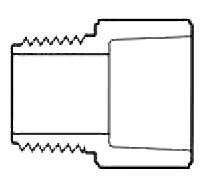 "2-1/2"" PVC Male Straight Adapter - SCH 40, MPT x Socket"