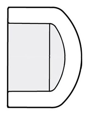 "6"" PVC Round Head Cap - SCH 40, Socket"