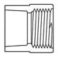 "1/2"" PVC Female Straight Adapter - SCH 80, Socket x FPT"