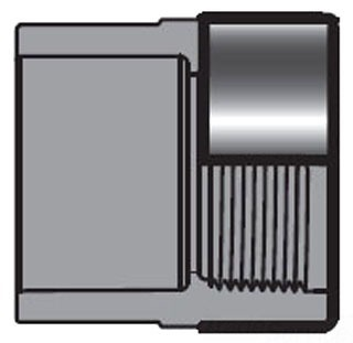 "1"" PVC Female Straight Adapter - SCH 80, Socket x ESR FPT"