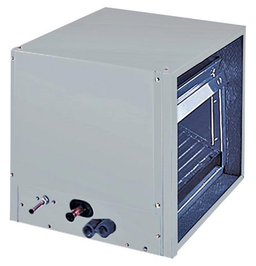 30000 BTU Cased N Horizontal Air Conditioner Evaporator Coil - Aluminum Tube / Fin