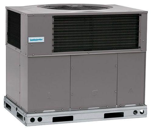 "48-3/16"" x 44-3/16"" x 48-3/4"", 42000 BTU/Hr Cooling, 208/230 VAC 60 Hz 3-Phase, 14 SEER/12 EER, R-410A, 1-Stage, Standard, Packaged Heat Pump"