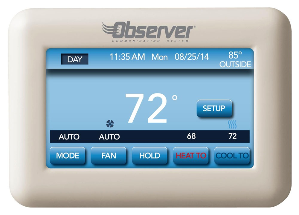 Touch-Screen Communication Wall Control - Observer, Textured White