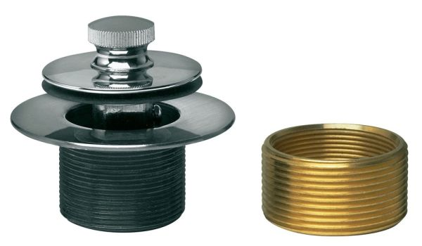 Bath Waste and Overflow Conversion Kit - Uni-Lift Stopper with Rubbed Bronze Trim