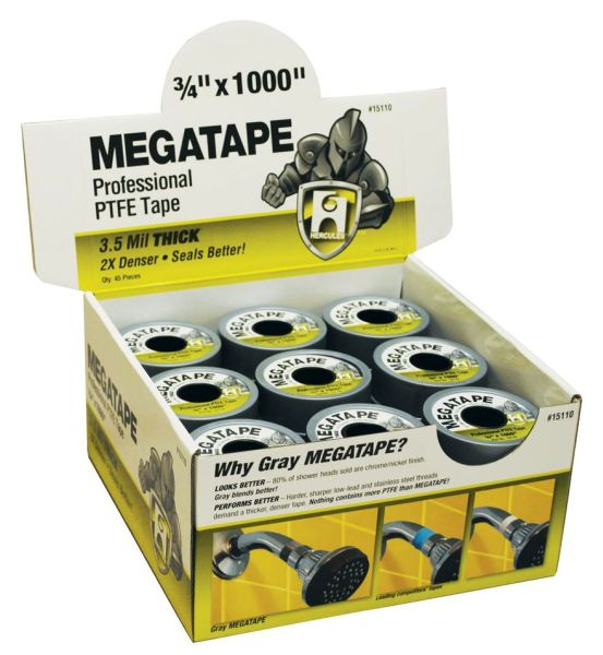 3/4 X 1000 Gray Virgin PTFE Thread Seal Tape