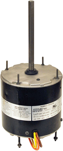 1/6 to 1/3 HP PSC Condenser Fan Motor - 208 to 230 V, 1-Phase, 1075 RPM, 2-Speed