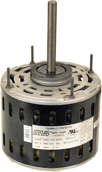 1/3 HP PSC Direct Drive Blower Motor - 208 to 230 V, 1-Phase, 1075 RPM, 3-Speed