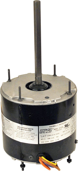 1/4 HP PSC Condenser Fan Motor - 208 to 230 V, 1-Phase, 1075 RPM, 1-Speed