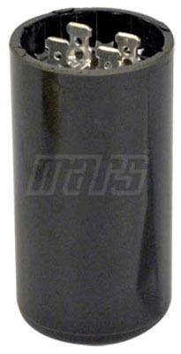 30 to 36 Microfarad 220/250 VAC Motor Start Capacitor - Blue Box, Phenolic, Round