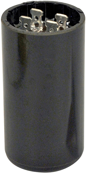 270 to 324 Microfarad 110/125 VAC Motor Start Capacitor - Blue Box, Phenolic, Round