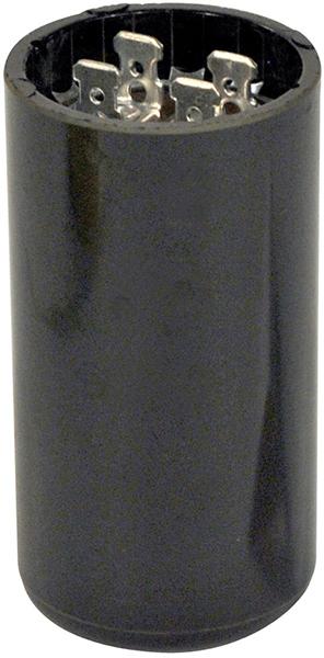 145 to 175 Microfarad 220/250 VAC Motor Start Capacitor - Blue Box, Phenolic, Round