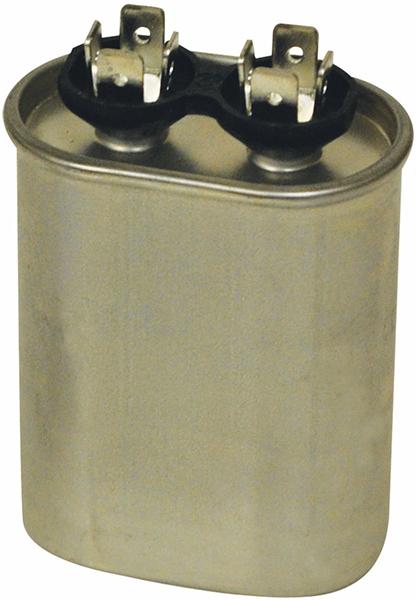 15 Microfarad 370 VAC Motor Run Capacitor - Blue Box, Aluminum, Oval