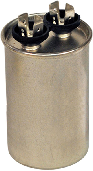 40 MFD Round Single Section Motor Run Capacitor, Aluminum