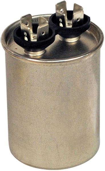 10 MFD Round Single Section Motor Run Capacitor, Aluminum