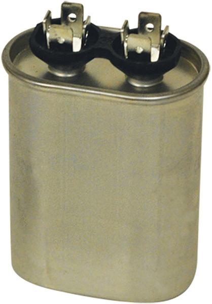 55 Microfarad 440/370 VAC Motor Run Capacitor - JARD, Aluminum, Oval