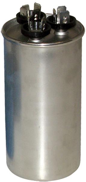 65/10 Microfarad 440/370 VAC Motor Run Capacitor - Aluminum, Round