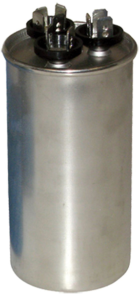 70/5 Microfarad 440/370 VAC Motor Run Capacitor - Aluminum, Round