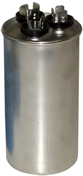 80/5 Microfarad 440/370 VAC Motor Run Capacitor - Aluminum, Round