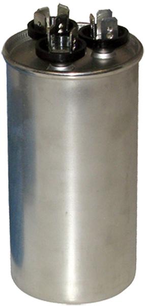 45/5 Microfarad 440/370 VAC Motor Run Capacitor - Aluminum, Round