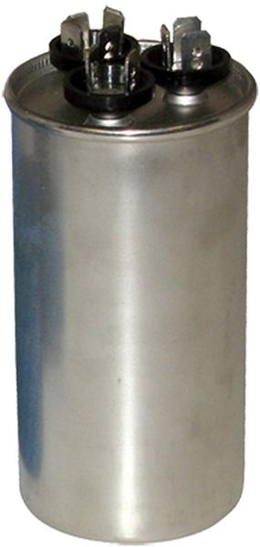 55/10 Microfarad 440/370 VAC Motor Run Capacitor - Aluminum, Round
