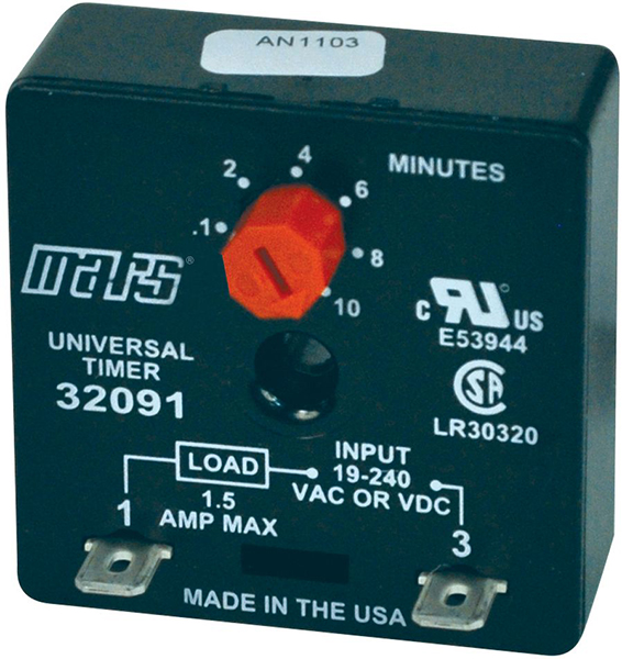 Adjustable Delay-On-Make Timer - 18 to 240 VAC, 1.5 A