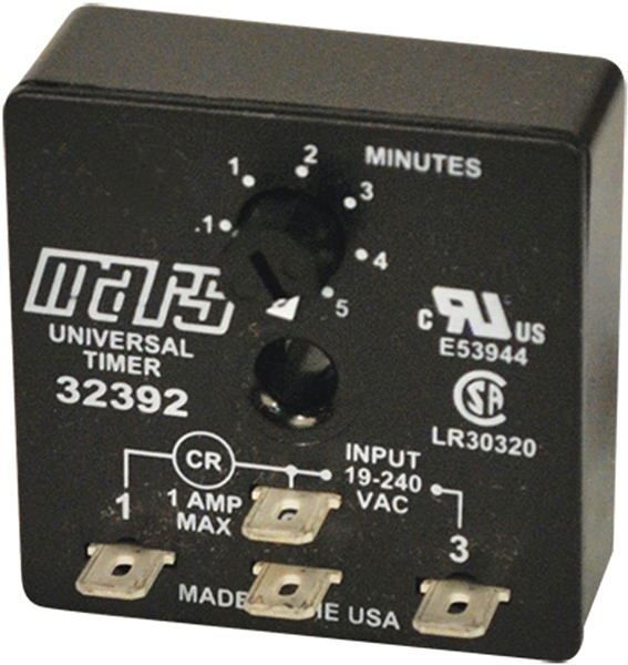 Adjustable Delay-On-Break Timer - 18 to 240 VAC, 1 A