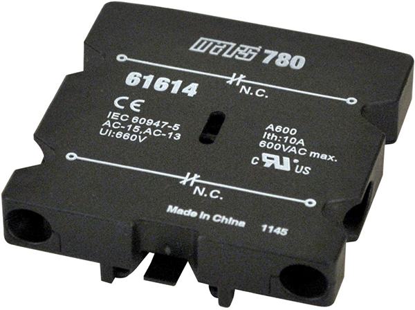 Snap-On Side Mounted Contactor Auxiliary Interlock