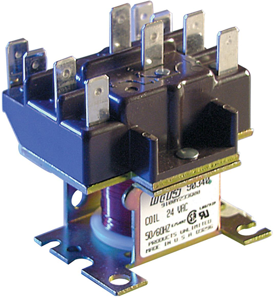 DPDT Air Conditioner Relay - 96 V Pick-Up, 25 A