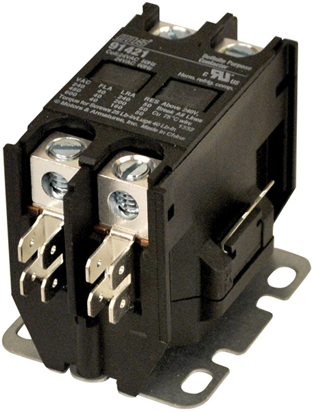 2 Pole Definite Purpose Contactor - 120 V, 40 A