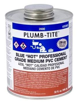 PVC Solvent Cement - Plumb-Tite, Medium Blue, 8 Oz Can
