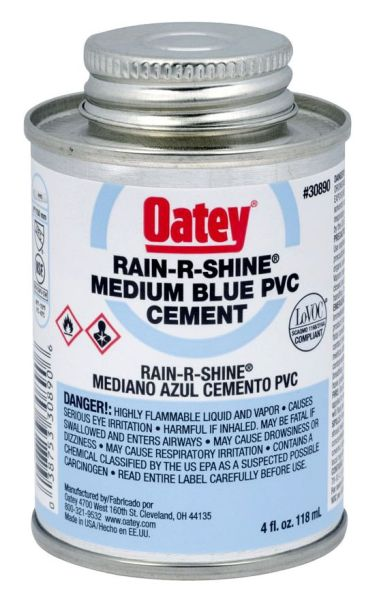 4OZ PVC CEMENT-BLUE