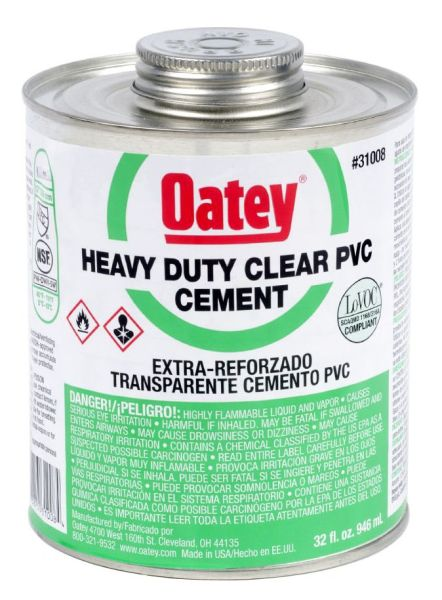 Heavy Solvent Cement, Clear