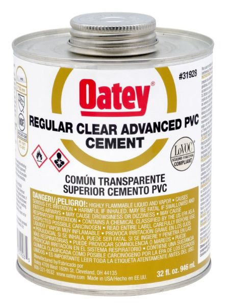 32OZ PVC REG CLR CEMENT