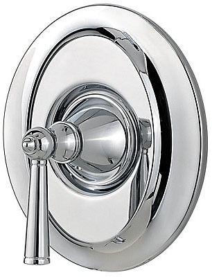 1-Lever Handle Tub and Shower Valve Trim - Saxton, Polished Chrome, Metal