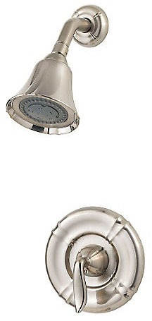 Shower Trim with Single Lever Handle - Santiago, Brushed Nickel, Wall Mount, 2.5 GPM