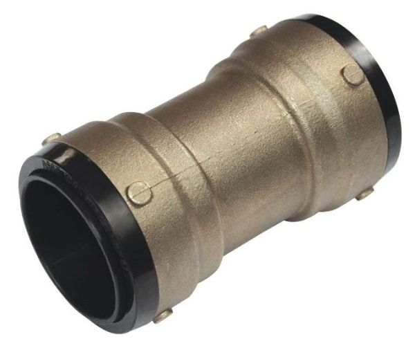 "1-1/2"" DZR Brass Straight Coupling"