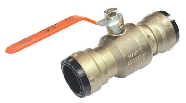 "1-1/2"" Push-Fit Ball Valve, DZR Brass Alloy"