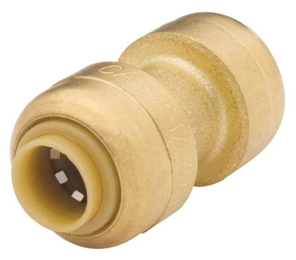 """3/4"""" DZR Brass Straight Coupling - Push-Fit"""