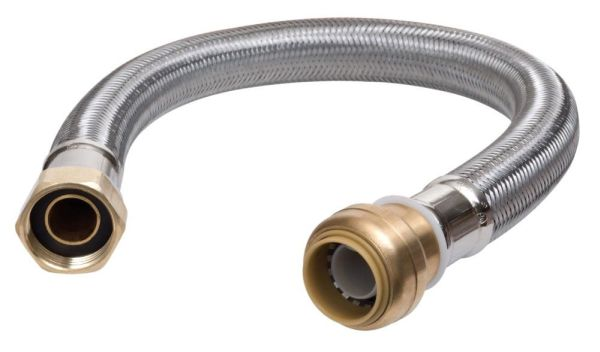 "3/4"" FPT Water Heater Connector - EPDM, Braided"