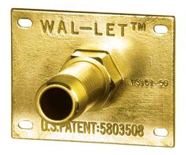 """1/2"""" Forged Brass Wall Termination - WalLet, 1-Piece, FPT x C"""