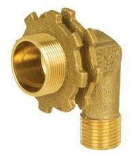 "1/2"" Brass 90D Straight Elbow - C x FPT, Shower Lock"