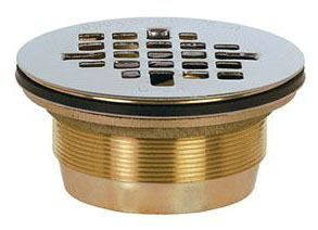 Round Shower Drain, Brass