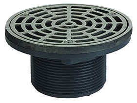 "3"" Round Adjustable Floor Drain, Gray ABS"