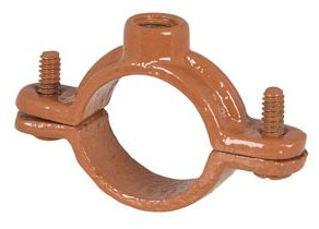 "1/2"" CTS Epoxy Coated Malleable Iron Import Split Ring Hanger - 3/8"" Rod, 180 psi Load"