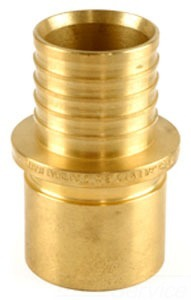 "1"" x 1"" or 3/4"" Brass Male / Female Straight Adapter - PowerPEX, PEX x FTG / C"