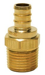 "3/4"" Brass Male Straight Adapter - PowerPEX, PEX x MPT"