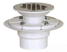 "2"" Shower Pan Drain - PVC, Snap-In Grid Plate"