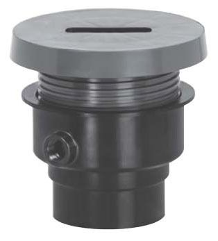 "3"" x 4"" Hub Rough-In Cleanout - FinishLine, PVC, SCH 40, with Coring Plug"