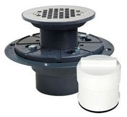 "2"" Shower Pan Drain - PVC, Screw-On Grid Plate"
