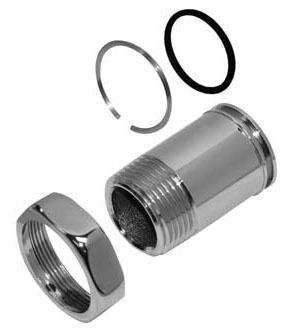 """Adjustable Flushometer Tailpiece Assembly, Chrome Plated 4-1/16"""""""